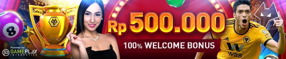 Welcome bonus untuk member baru Rp 500.000