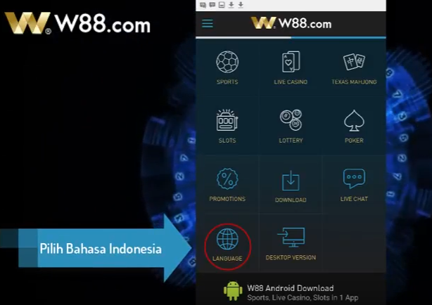 Download-W88-Android-di-Smartphone