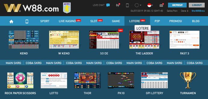 Permainan-Permainan-Lotere- Yang-Ditawarkan-W88