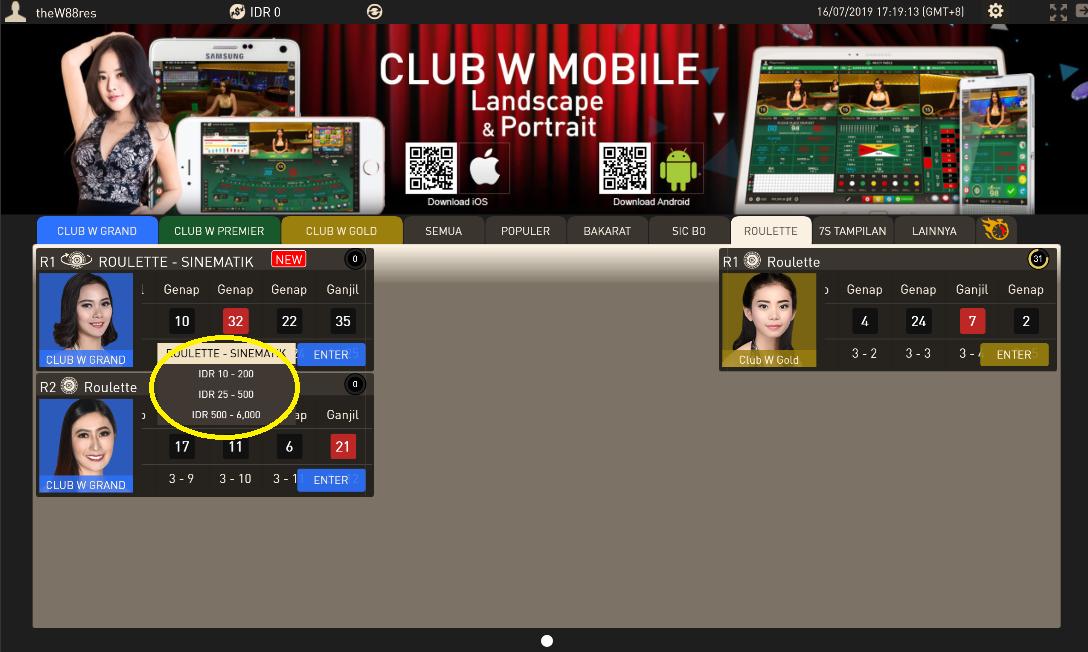 Roulette-Casino-Club-W-Grand-W88