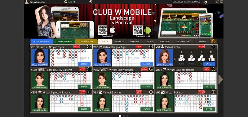 Daya Tarik Club W Grand W88